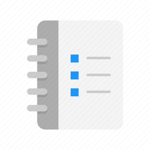 checklist, notebook, notes, to do list icon