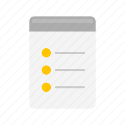 bullets, checklist, notes, to do list icon