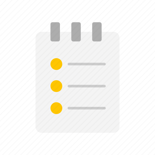 checklist, clipboard, journal, notes icon