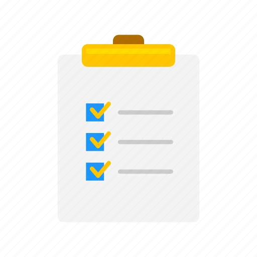checklist, clipboard, notes, to do list icon