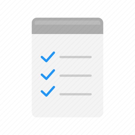 checklist, clipboard, list, notebook icon
