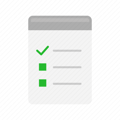 clipboard, files, list, notebook icon