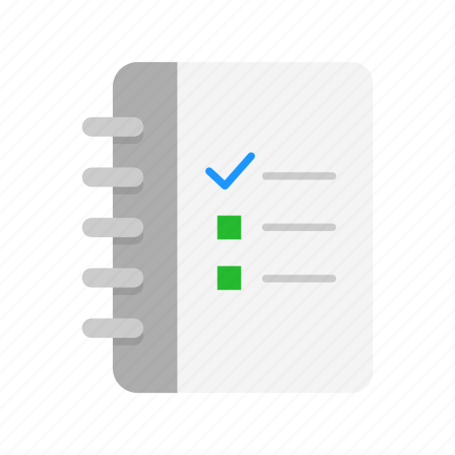 checklist, files, journal, notebook icon