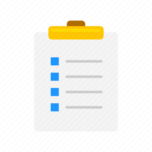 checklist, file, list, notes icon