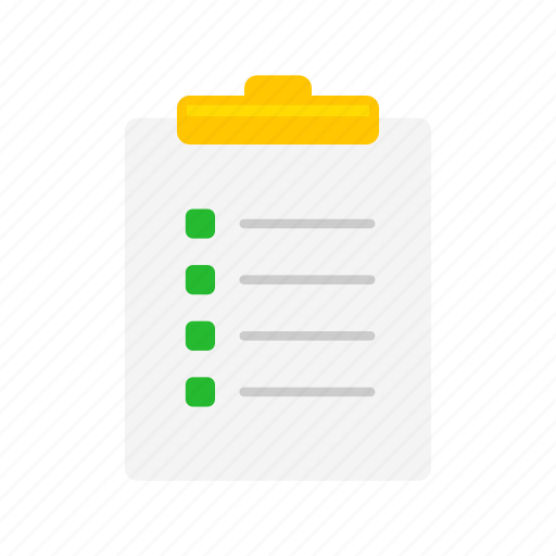 checklist, clipboard, list, papers icon