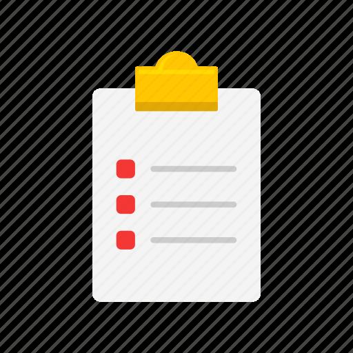 board, checklist, document, menu icon