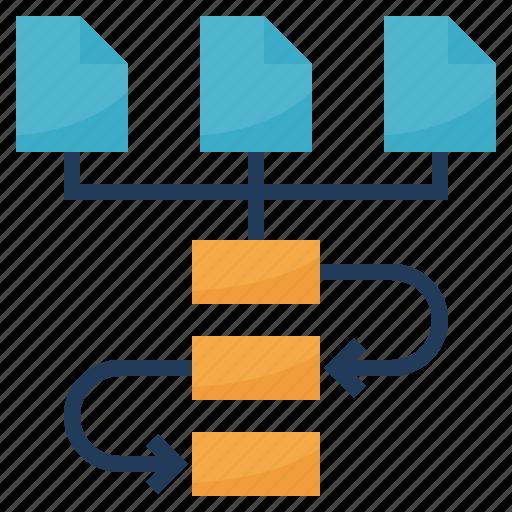 algorithm, chart, flow, method, workflow icon