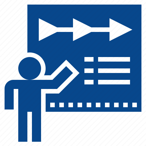 business, planning, presentation, report, timeline icon