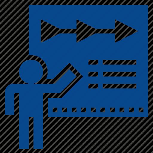 Business, planning, presentation, report, timeline icon - Download on Iconfinder