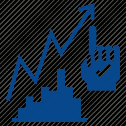 analytics, future, planning, prediction, strategic icon