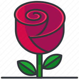 floral, flower, nature, plants, rose icon