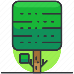 forest, nature, park, square, tree, trees icon