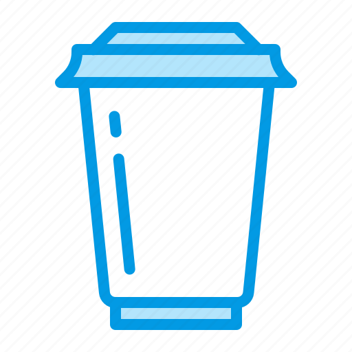 coffee, cup, disposable, plastic icon