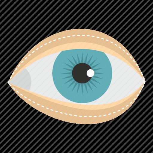 blepharoplasty, cosmetic, eye, eyelid, medical, plastic, surgery icon