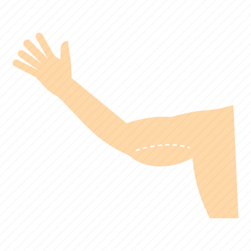 arm, biceps, cosmetic, female, flabby, hand, woman icon