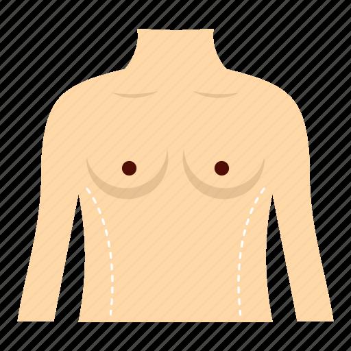 body, cosmetic, line, operation, surgery, torso, waist icon