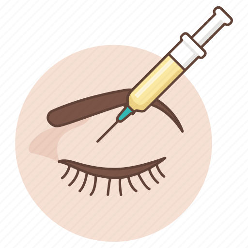 collagen, cosmetic, eyelid, injection, plastic, surgery icon