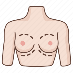 augmentation, breast, cosmetic, enhancement, enlargement, plastic, surgery icon