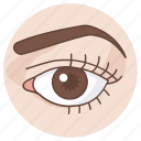 beauty, cosmetics, eye, eye liner, optometrist, sight, vision icon