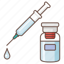 anaesthetic, collagen, drug, injection, intravenous, medicine, syringe icon