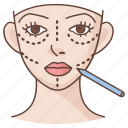 cosmetic, facelift, facial, plastic, reconstruction, rhytidectomy, surgery icon
