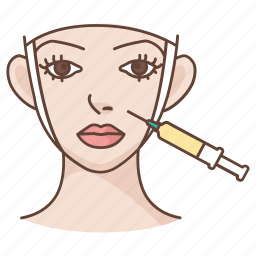 botox, cosmetic, injection, plastic, skin, surgery, wrinkles icon