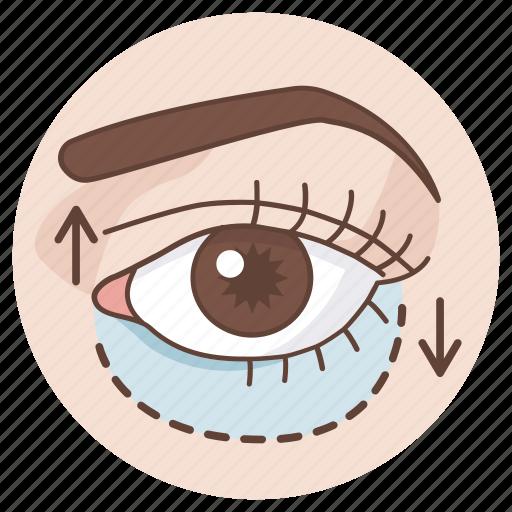 belpharoplasty, cosmetic, double, eye, eyelid, lift, surgery icon