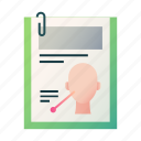 analysis, facial, health, history, medical, patient information, record icon