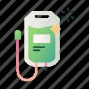 fluid, iv, medical, medicine, saline, saline bag, solution icon