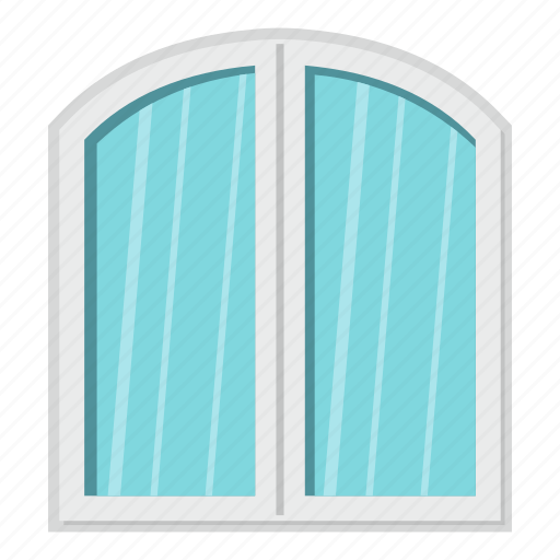 arch, frame, home, house, interior, view, window icon