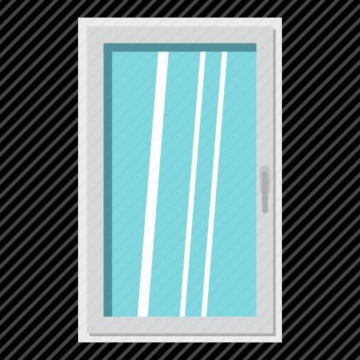 frame, home, house, interior, rectangle, white, window icon