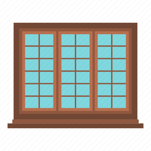 brown, frame, home, house, lattice, rectangle, window icon