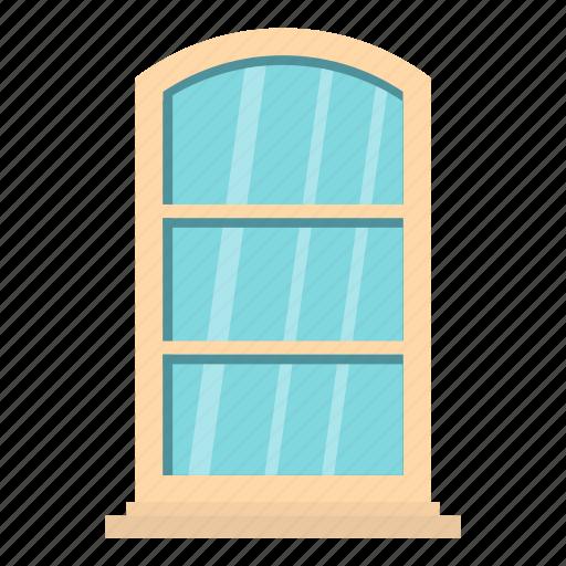 arch, frame, home, house, interior, white, window icon