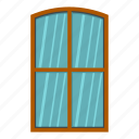 brown, frame, home, house, interior, rectangle, window icon