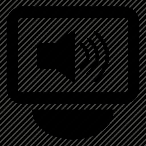 audio, display, music, screen, sound, speaker, volume icon