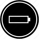 battery, charging, energy, level, low icon