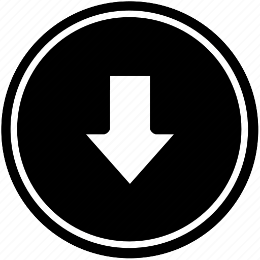 bottom, down, function, operation icon