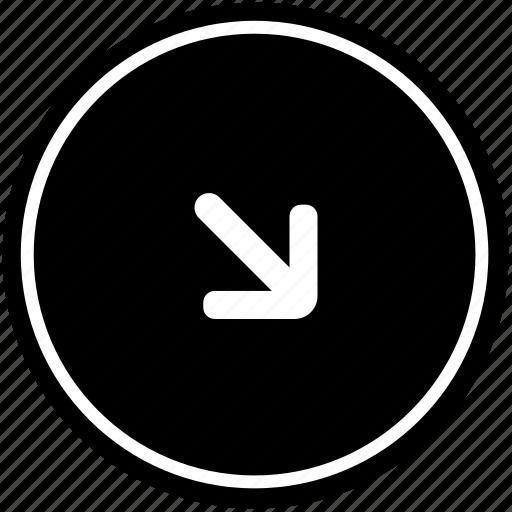 bottom, right icon
