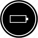 battery, charging, empty, level, mobile, phone icon