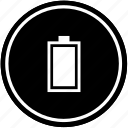 battery, charge, full, mobile, vertical icon