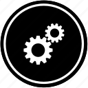 engine, gears, mechanism icon