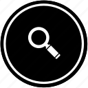 find, loop, search, tool icon