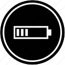 battery, charging, level, medium icon