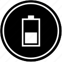 battery, charging, level, medium, vertical icon