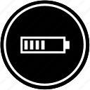 battery, charging, level, middle, mobile icon