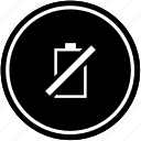 battery, charging, empty, level, mobile, no, phone icon
