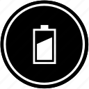 battery, charge, level, medium, mobile, vertical icon