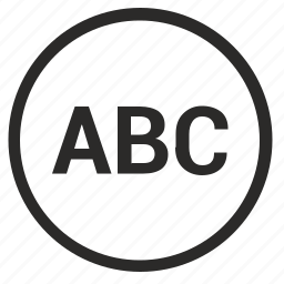abc, list, player, playlist, round icon
