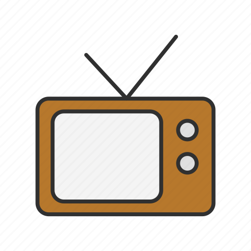 media, old tv, television, tv icon