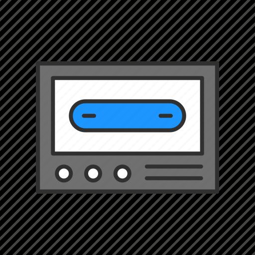 audio, casette, record, tape icon